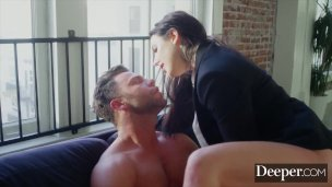 Deeper. Seth submits to dominant boss Angela White